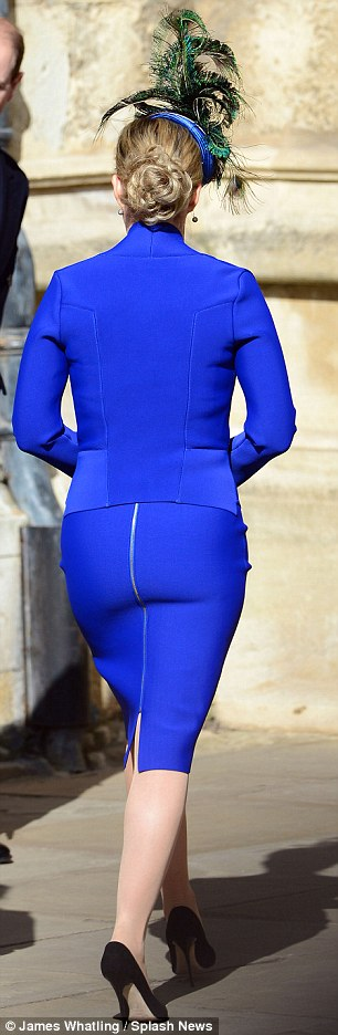 The Countess attends the Easter Matins service at St George's chapel at Windsor castle