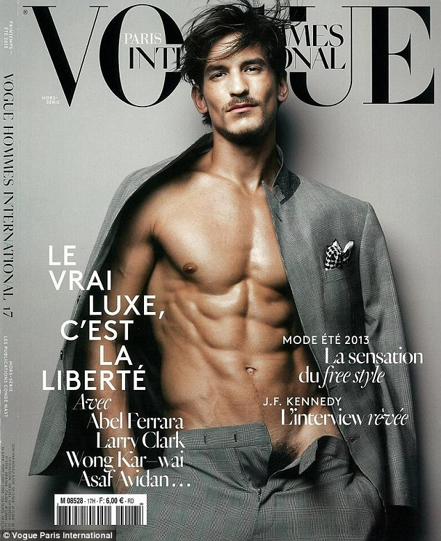 Vogue Or Playboy? Male Model Reveals Pubic Hair On Cover Of