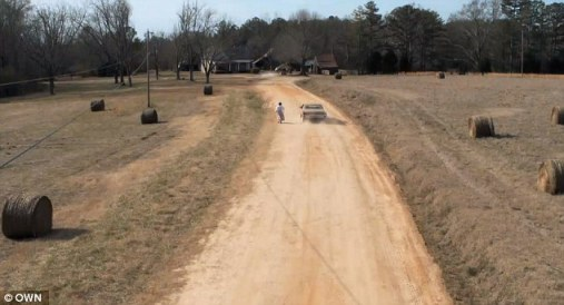 The OWN promo was shot in a rural area outside of Atlanta