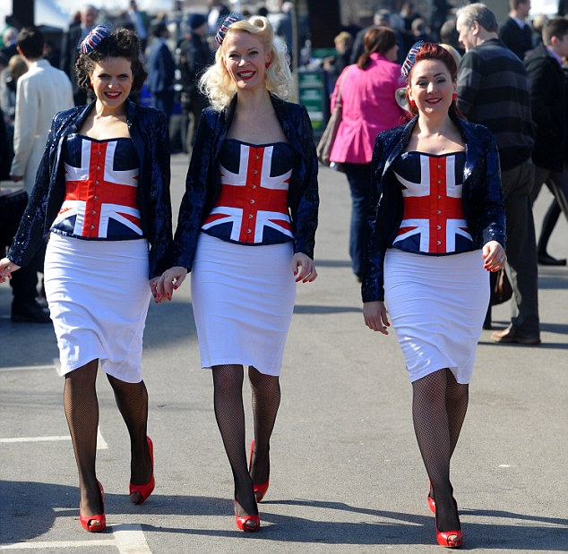 Best of British: These girls made sure the fashion stakes were high at Aintree on Grand National day