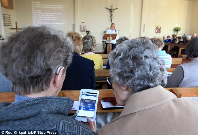 Image result for church all on tablets
