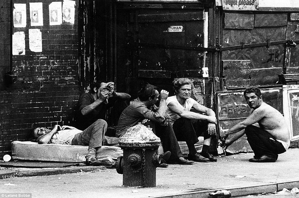 The neglected denizens of the Bowery lived together in groups and scrounged what little food, drink and shelter they could