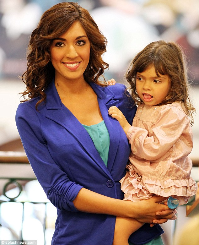 Teen Mom: The 21-year-old with her four-year-old daughter Sofia in Dallas, Texas, in September 2011