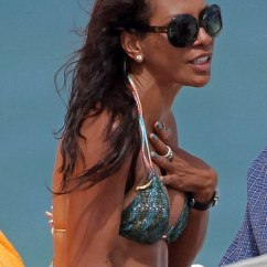Beach Chairs Uk Dining Room Chair Seat Pad Covers Boris Becker's Ex-wife Barbara Becker Stuns At 46 In Pretty Bikini And Tribal Sarong | Daily ...