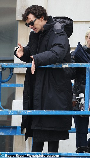 Benedict Cumberbatch recreates the fatal leap from Sherlocks series two finale for new