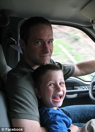 Snow fans: The father and son, pictured left, were avid fans of extreme sports