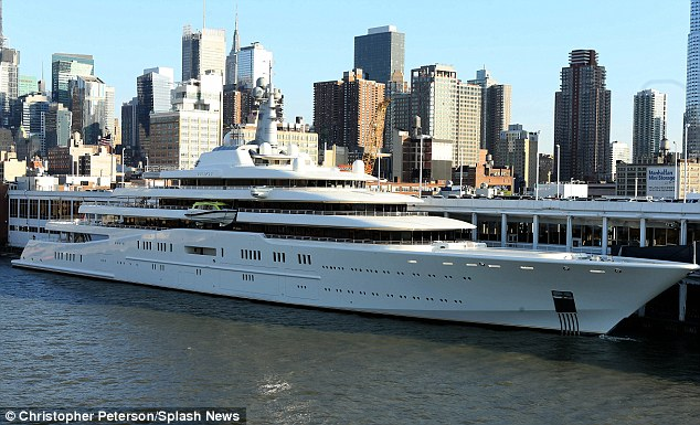 Abramovich's 557-foot yacht named Eclipse, which has lost the title of world's largest private yacht to a newly-launched yacht named Azzam measuring 590-foot, has been anchored in New York harbour for the past two months