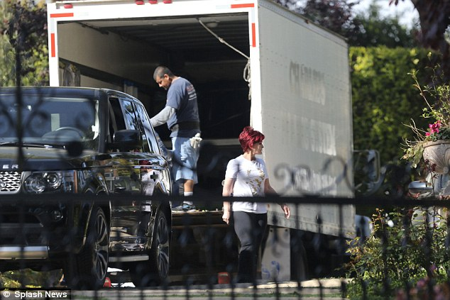 Sharon Osbourne Is Seen Moving Into New Mansion Days