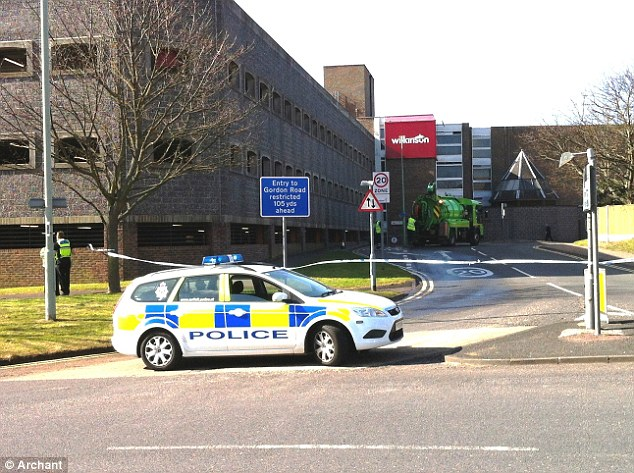 Deaths: Police have sealed off this multi-storey car park in Lowestoft today after a woman fell to her death here, which led officers to discover her three children at home