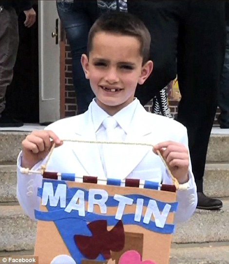 First picture: Eight-year-old Martin Richard was killed in an explosion at the Boston Marathon as he waited to give his father a hug at the finishing line