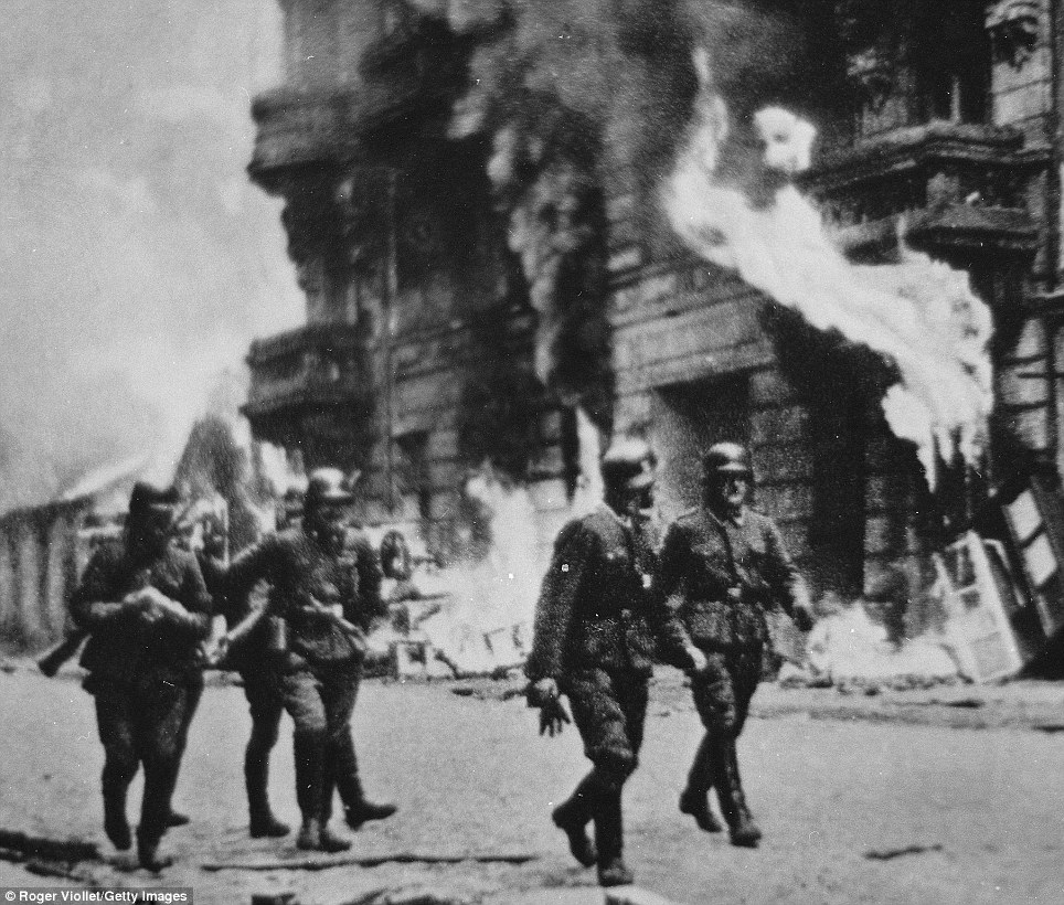 Shocking: A quarter of Polish schoolchildren believe the Warsaw ghetto (above) where thousands of Jews were slaughtered by the Nazis was successful