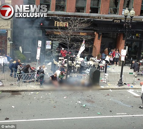 Boston Marathon Bomb Before and After