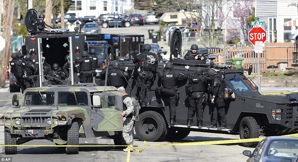 "Boston ""Locked Down"" as SWAT teams hunt teenage \'terrorist\' from ..."