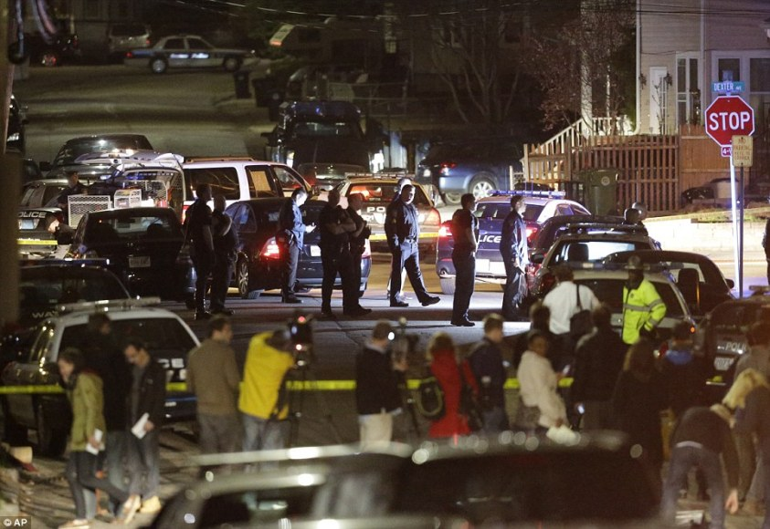 Chaos in the streets: Gunfire erupted in a quiet suburban neighborhood, setting off a massive manhunt