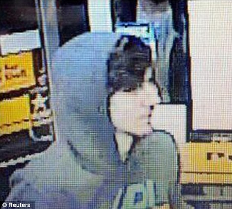 Dzhokhar Tsarnaev, is seen in this undated still image taken from surveillance video on Friday