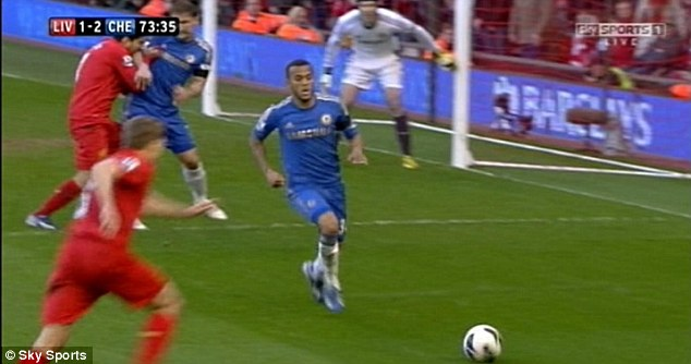 Crazy? The Chelsea defender appeared to have done very little to provoke Suarez