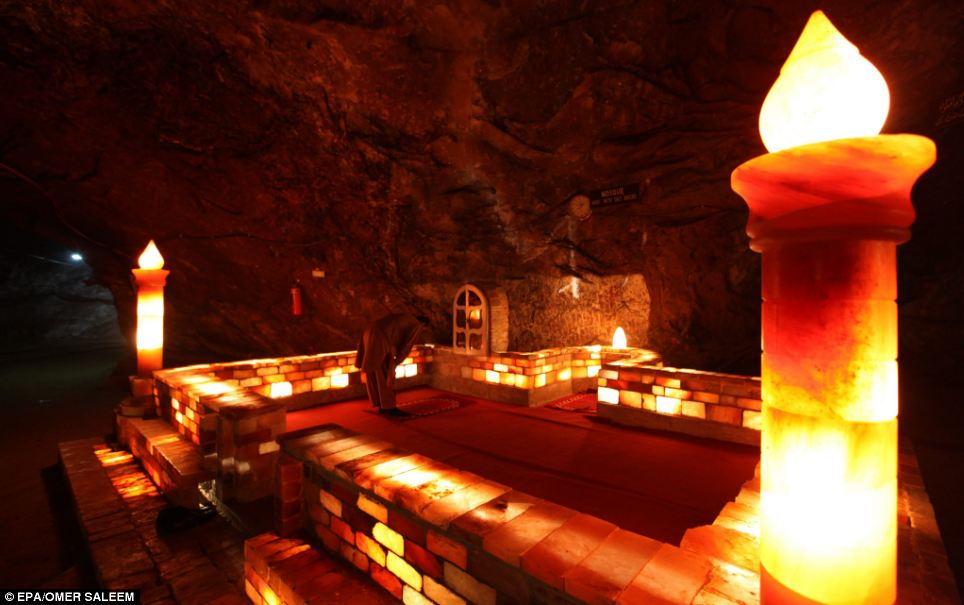 Inside the salt mine so large it has a mosque and electric ...