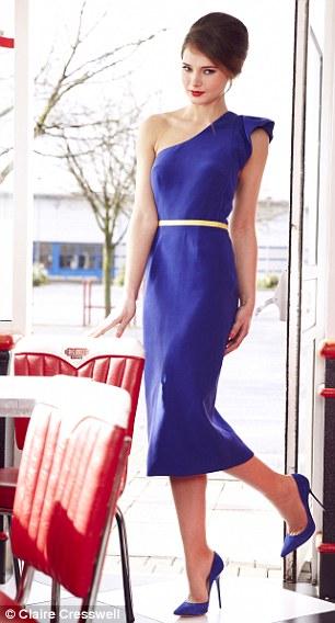 Dress, £260, projectdlondon.com, Heels, £65, dune.com