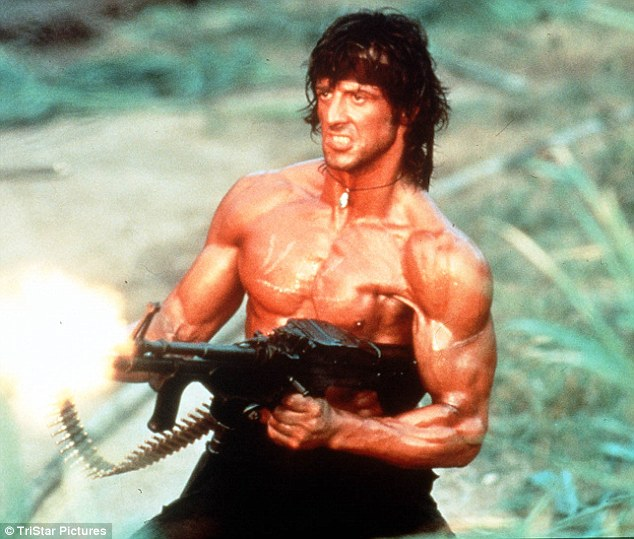 Glory years: Sylvester is still beloved by action fans to this day thanks to the likes of 1985's Rambo First Blood Part 2