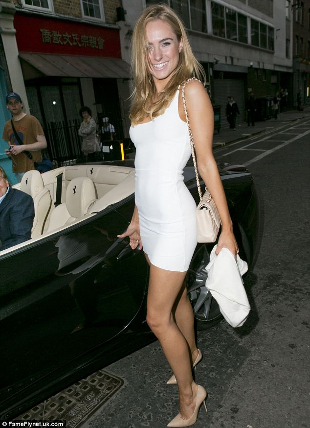 Kimberley Garner Wears Tiny White Dress As Shes Picked Up