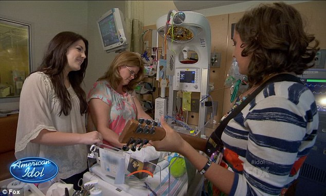 Emotional: The girls were shown making a heartrending visit to the Children's Hospital Los Angeles