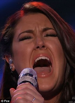 Belting it out: The vocalist was not afraid to reach for her higher range as she sought to impress