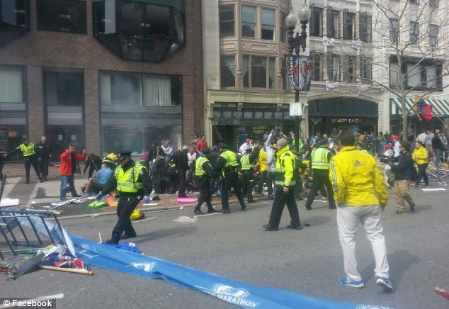Reflecting on the scenes of destruction at Boston marathon, Vice President Joe Biden condemned the bombing suspects as 'two twisted, perverted, cowardly, knockoff jihadis'