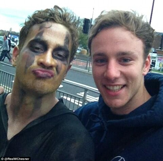 Injured: Cipriani (left) was injured while on a pub crawl into Leeds