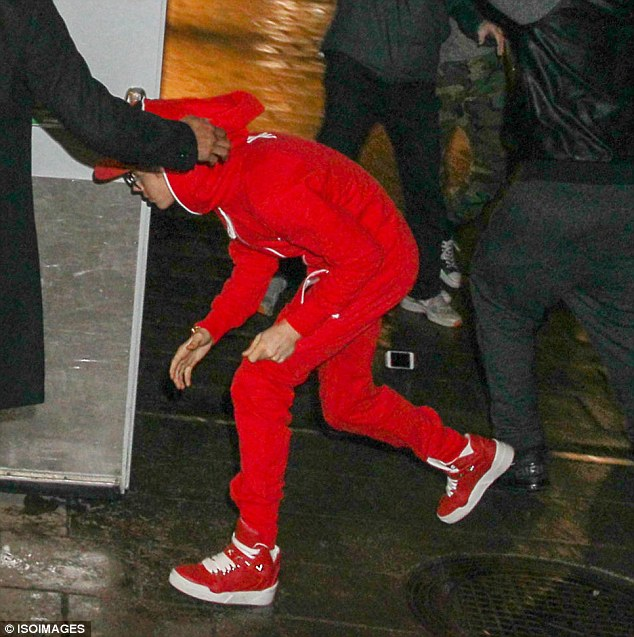Bad boy: Justin was also accused of refusing to wear the costume that was provided for him at the Elizabeth Arden shoot