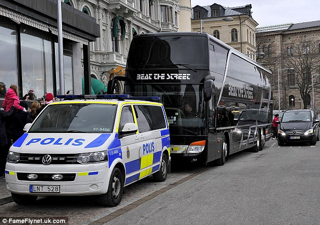 Pungent smell: Officers said they smelltmarijuana coming from inside the bus when it was parked outside the hotel where Bieber was staying.
