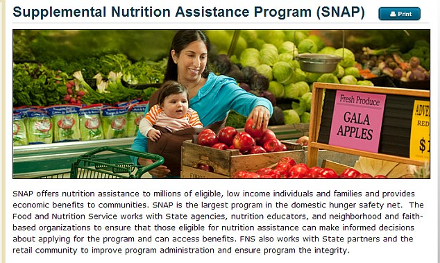Congress spent $86.5 billion on the SNAP program in 2012, by far the largest single line-item in the USDA's $205 billion overall budget