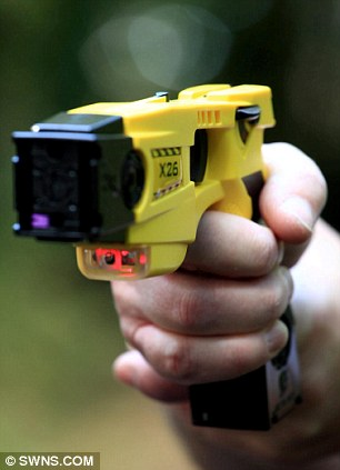 Warning: Tasers have labels indicating that they should not be used near flammable substances such as petrol