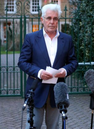 Max Clifford outside his home today