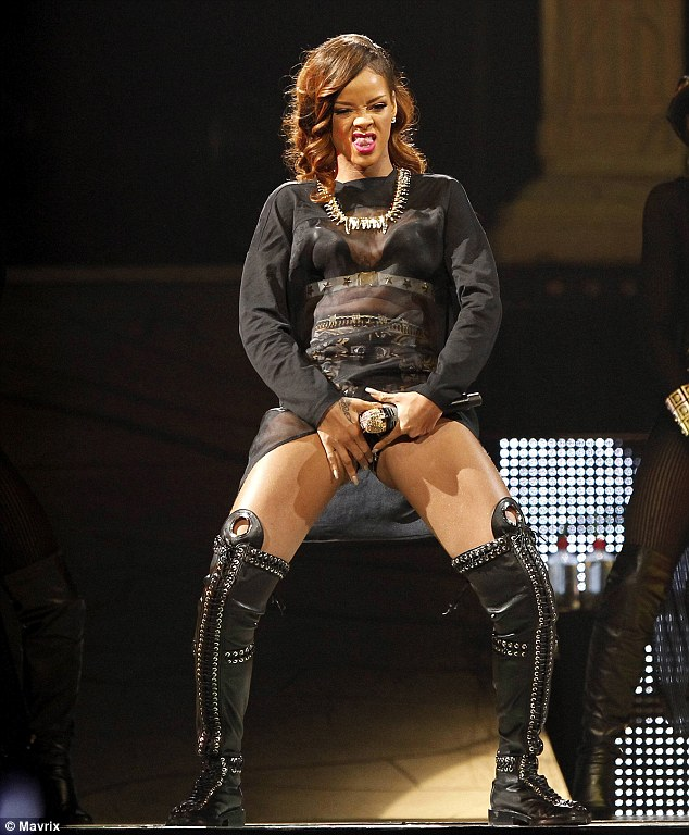 Crude: Rihanna isn't ladylike enough to get the thumbs-up from Chris' dad Clinton