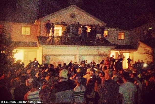 Dangerous: A party at Colorado State University, pictured, that began with 50 students soon swelled to 800 before police stepped in with tear gas