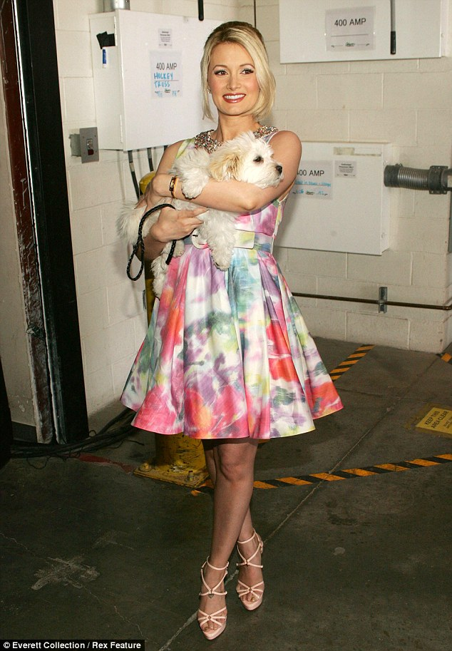 Holly Madison displays some badly cracked feet as she