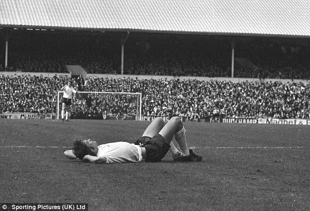 Floored: Glenn Hoddle as Spurs are relegated in 1977