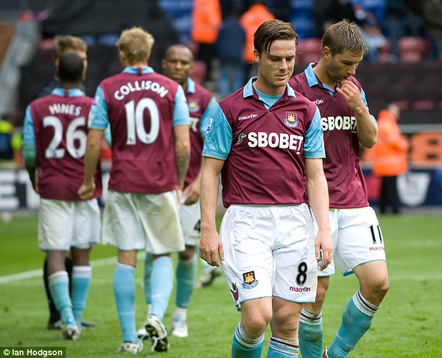 Sombre: West Ham's players reflect on their relegation in 2011