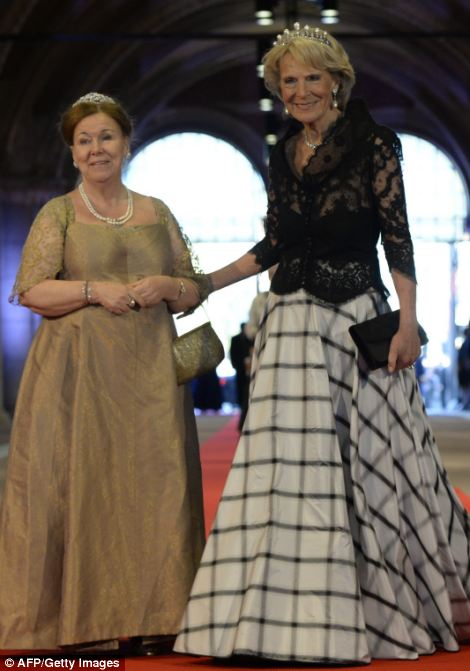 Princess Christina of the Netherlands, left, and Princess Irene