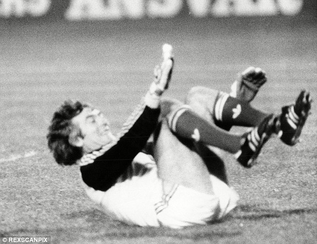 Top dog: Pat Jennings in action for Northern Ireland against England