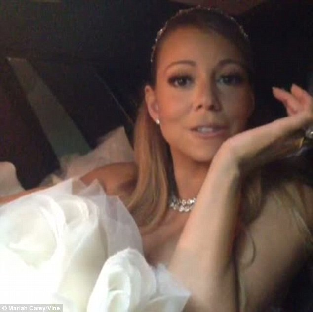 One for the fans: Mariah kept her followers updated with her every movement via a series of short videos on her Vine account