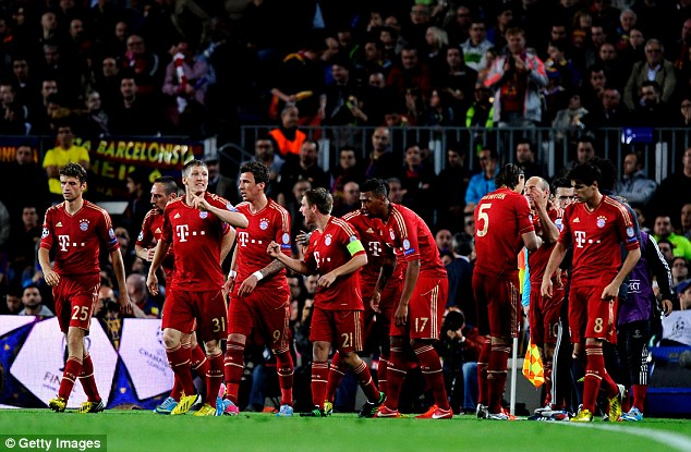 Fussball's coming home: Bayern secured an all-German Champions League final against Borussia Dortmund