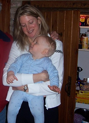 Helen with her nephew: Now 45, she has left it late to have children of her own