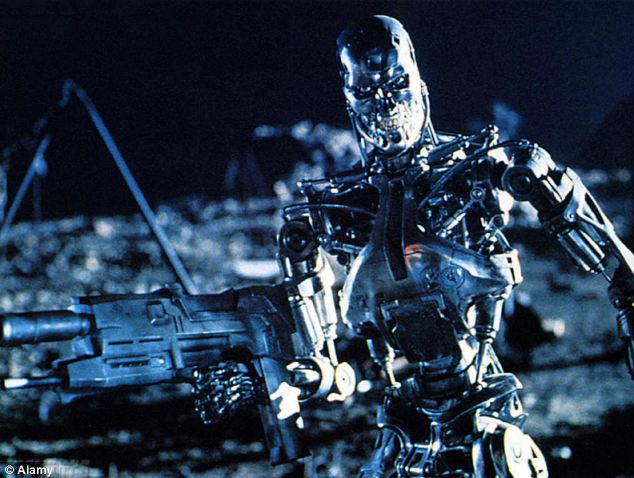 The machines in Terminator were cybernetics. Arnold Schwarzenegger plays the T-800 model number 101 who tells John Connor in the film: 'I'm a cybernetic organism. Living tissue over a metal endoskeleton'