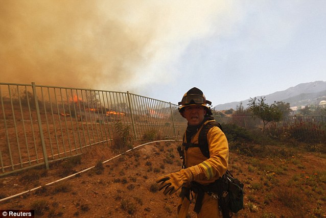 Smoke alarm: Much of Southern California was under red flag warnings for fire danger due to heat, wind and low humidity levels