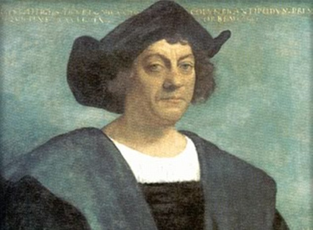 Explorer: The depiction matches Christopher Columbus's account of being greeted by naked men who painted themselves in red and black and danced for the European explorers