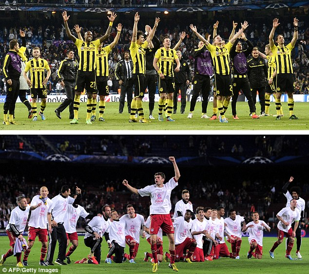 Dress rehearsal: Fresh from their European exploits this week, Champions League finalists face off
