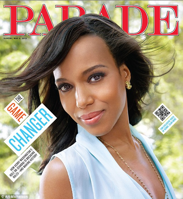 History maker: Kerry Washington opened up in latest issue of PARADE about Django Unchained and her groundbreaking turn in ABC's Scandal