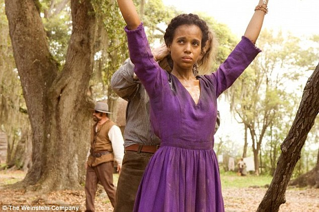 Tough business: Kerry admitted she almost didn't emotionally survive the ordeal of playing a slave onscreen, pictured in Django Unchained