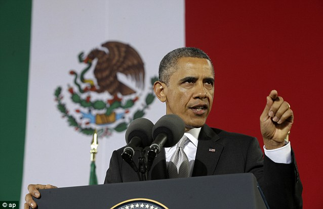 Relationship: President Barack Obama has admitted that guns from his country are partly to blame for deadly violence in Mexico